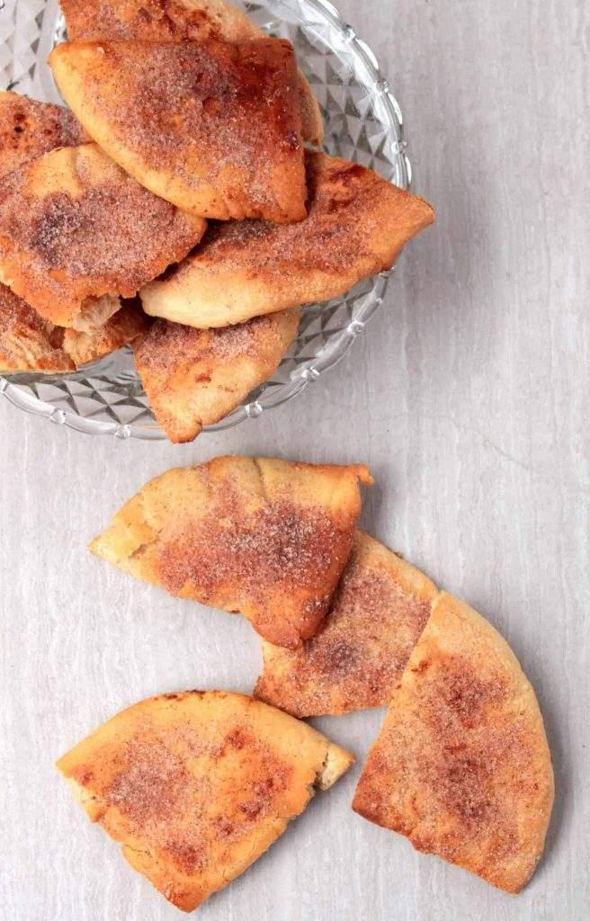 X for Xtra Crunchy Pita Chips   Cinnamon Sugar Pita Chips
