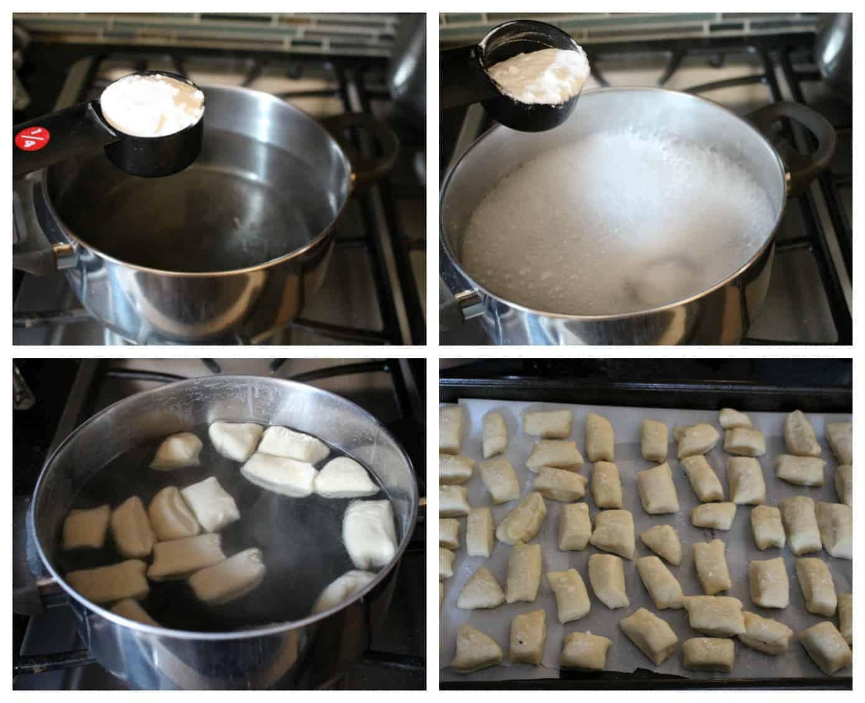 making baking soda bath for pretzel