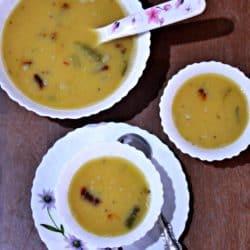 Dali Thoy   Konkani Style Dal   Vegan Spiced Lentil
