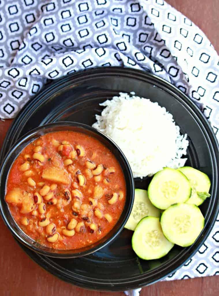 Black-Eyed Peas and Potato Stew | Lobia and Aloo Subzi - (Vegan and Gluten Free)