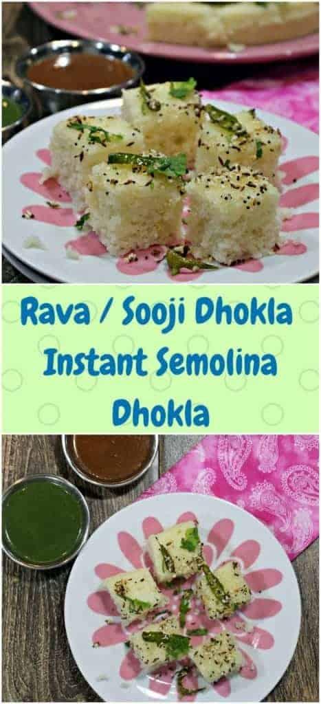 Rava Dhokla | Instant Sooji Dhokla | Semolina Dhokla