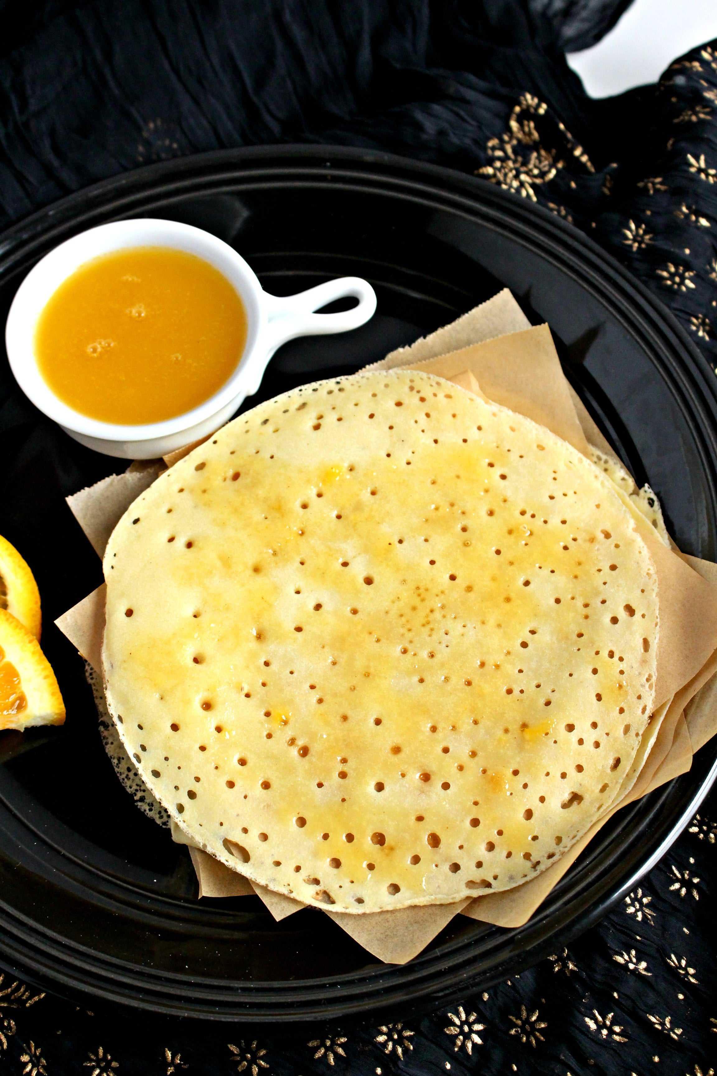 Baghrir with Orange Butter Sauce | Moroccan Semolina Pancake