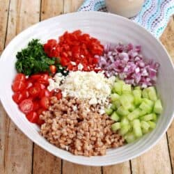 Farro Salad With Tahini Vinaigrette
