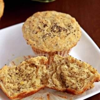 Lemon Chia Seed Muffins | Eggless Muffins