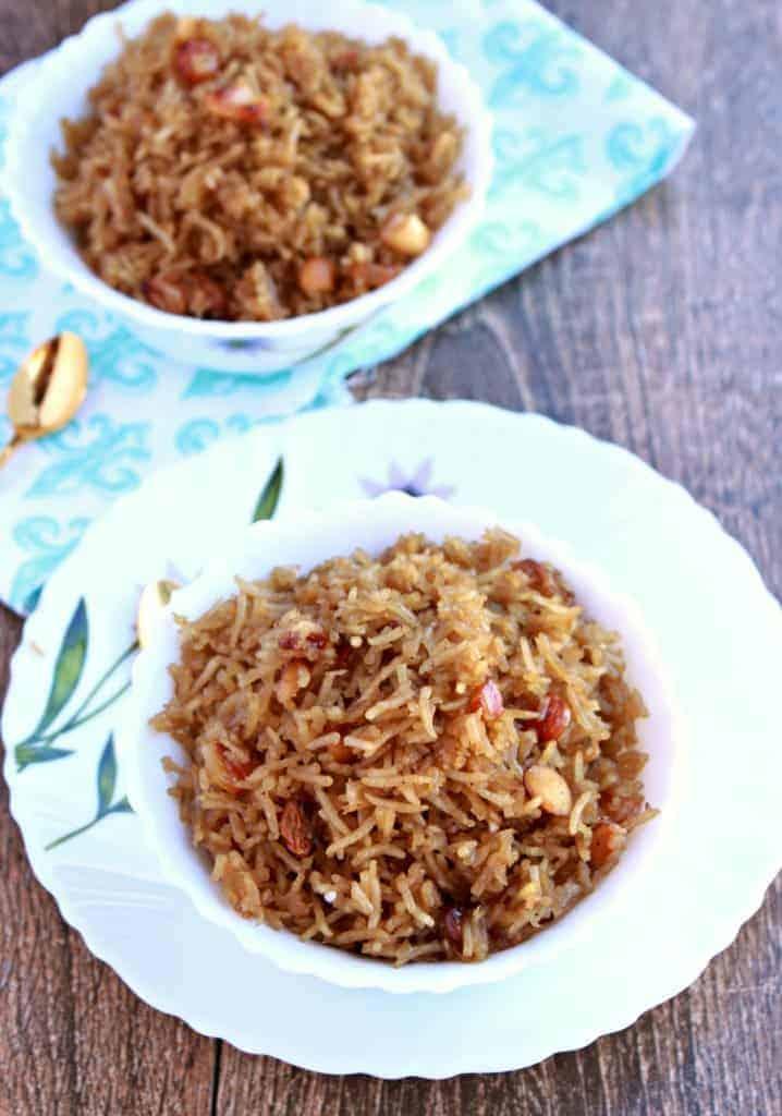 Narali Bhath | Sweet Coconut Rice