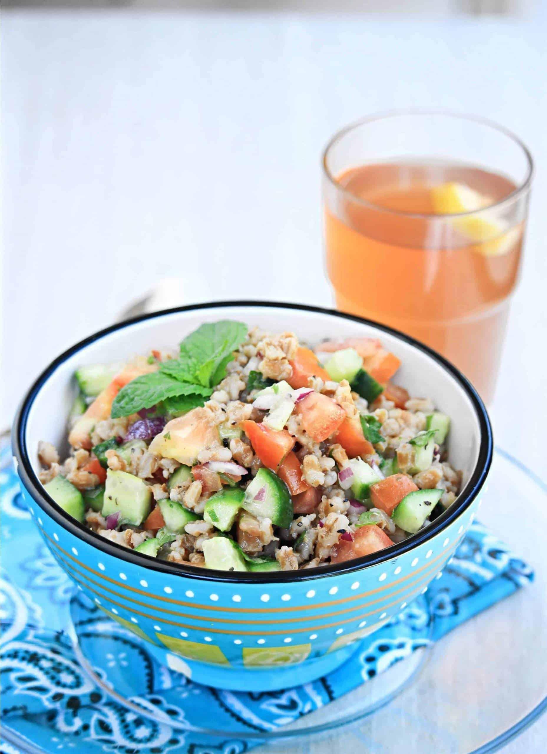 Barley Cucumber Salad | Summer Barley Salad