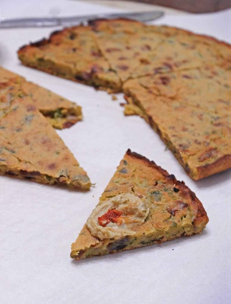 Chickpea Flatbread | Socca | Gluten free and Vegan French Flatbread