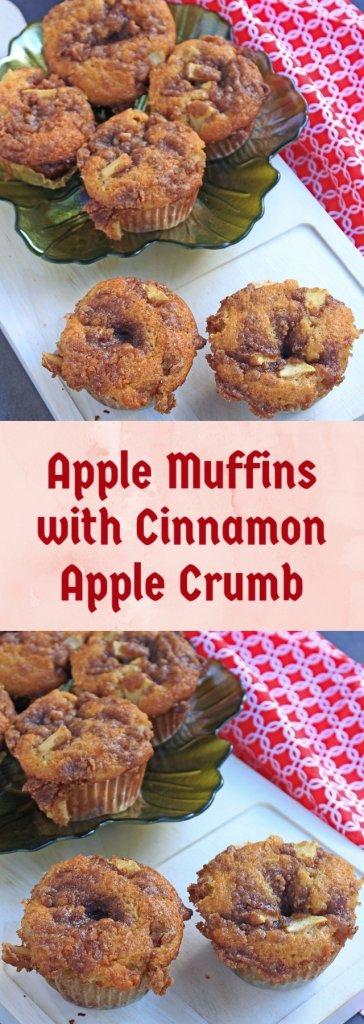 Apple Muffins with Cinnamon Apple Crumb