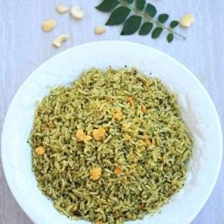 Karuveppilai Sadam   Spiced Curry Leaves Rice