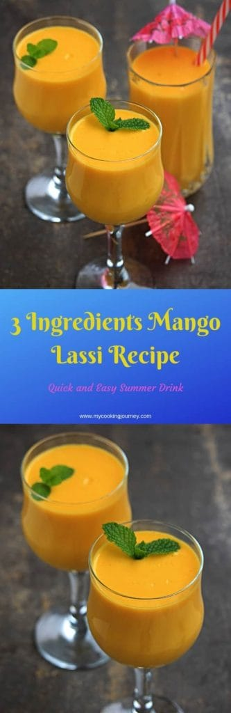 Quick and easy 3 Ingredients Mango Lassi Recipe