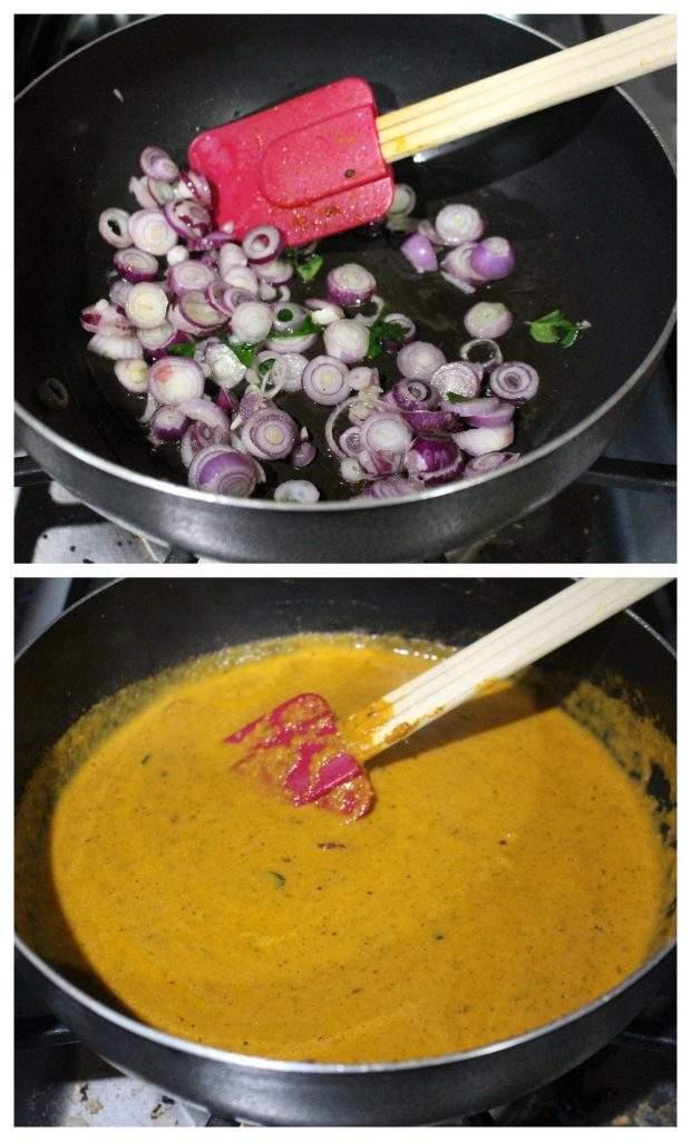 Making Kongunadu Tomato kuzhambu for idli and dosai
