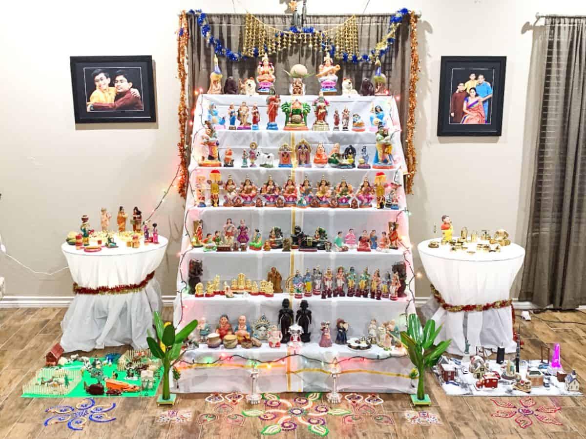 Golu decorations for Navarathri
