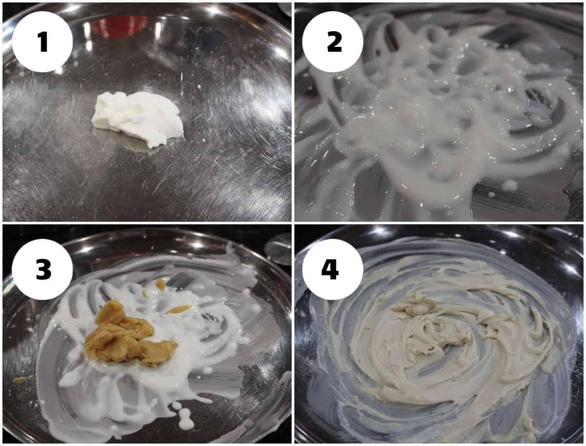 Process shot to make dough for badusha