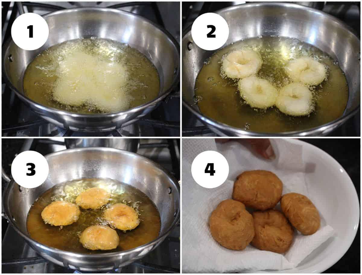Frying the badusha